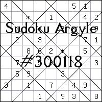 Sudoku Argyle №300118