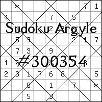 Sudoku Argyle №300354