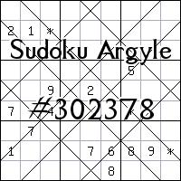 Sudoku Argyle №302378