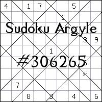 Sudoku Argyle №306265