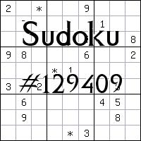 Sudoku №129409