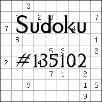 Sudoku №135102