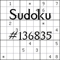 Sudoku №136835