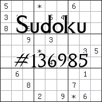 Sudoku №136985