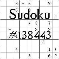 Sudoku №138443