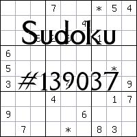 Sudoku №139037