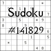 Sudoku №141829