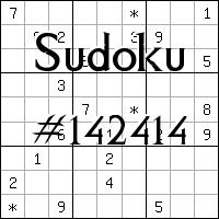 Sudoku №142414