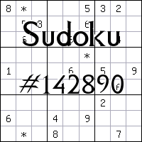 Sudoku №142890
