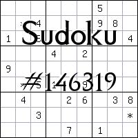 Sudoku №146319
