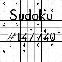 Sudoku №147740