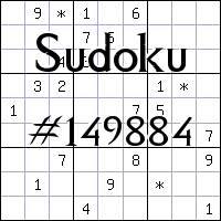 Sudoku №149884