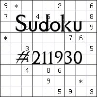 Sudoku №211930