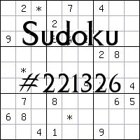 Sudoku №221326