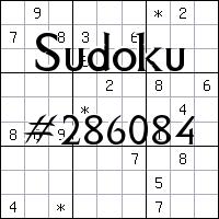 Sudoku №286084