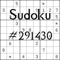 Sudoku №291430