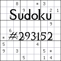 Sudoku №293152