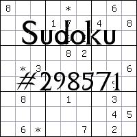 Sudoku №298571