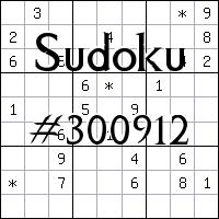 Sudoku №300912