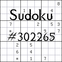 Sudoku №302265