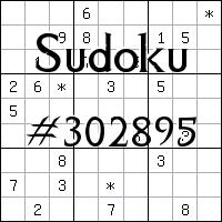 Sudoku №302895