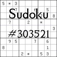 Sudoku №303521