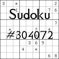 Sudoku №304072