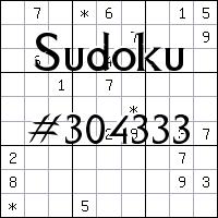 Sudoku №304333
