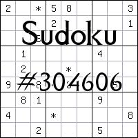 Sudoku №304606