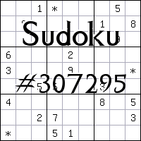 Sudoku №307295