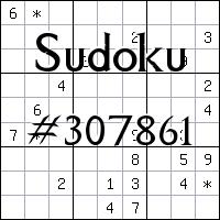 Sudoku №307861