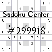 Centrum Sudoku №299918