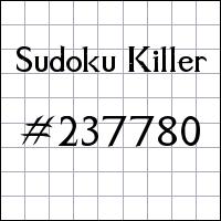Zabójcze sudoku №237780