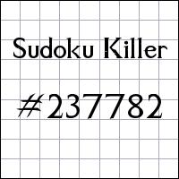 Zabójcze sudoku №237782