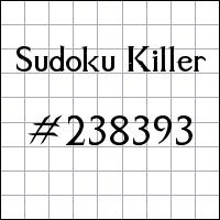 Zabójcze sudoku №238393