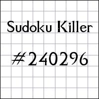Zabójcze sudoku №240296
