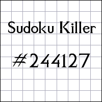 Zabójcze sudoku №244127