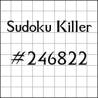 Zabójcze sudoku №246822