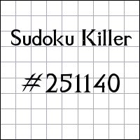 Zabójcze sudoku №251140