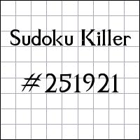 Zabójcze sudoku №251921