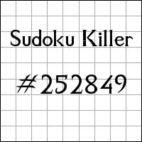 Zabójcze sudoku №252849
