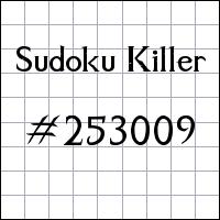 Zabójcze sudoku №253009