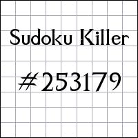 Zabójcze sudoku №253179
