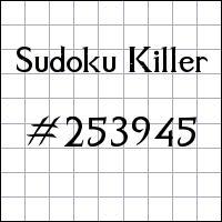 Zabójcze sudoku №253945