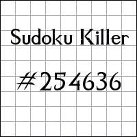 Zabójcze sudoku №254636