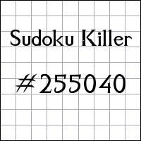 Zabójcze sudoku №255040