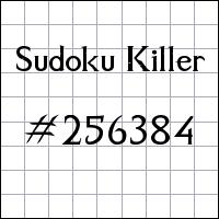 Zabójcze sudoku №256384