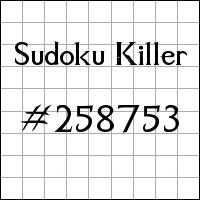 Zabójcze sudoku №258753