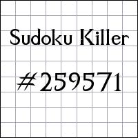Zabójcze sudoku №259571