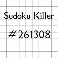 Zabójcze sudoku №261308